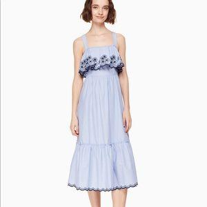 🆕Kate Spade ♠️Daisy Embroidered jardin midi dress